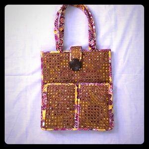 RARE Vera Bradley Straw Tote Bag